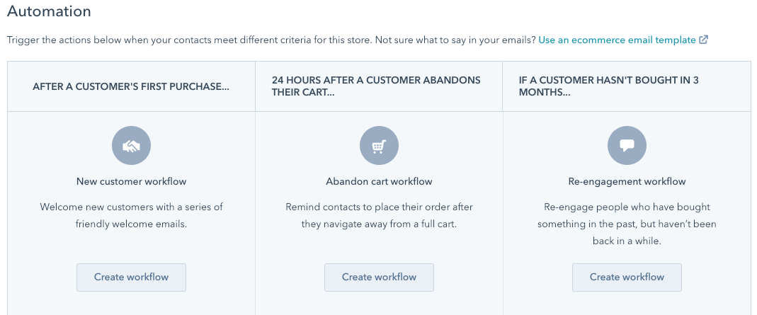 hubspot ecommerce workflows 1