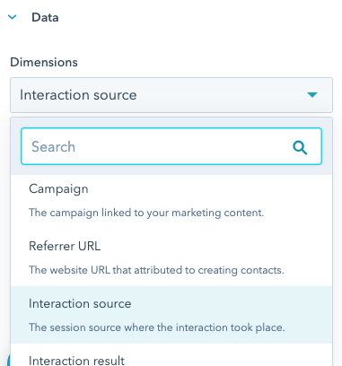 hubspot example attribution data