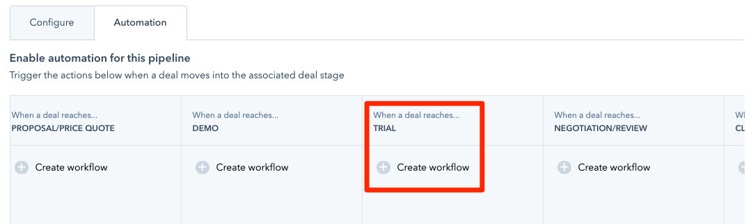 hubspot sales deals automation workflow